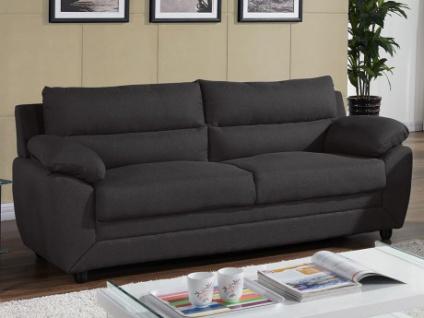 Sofa 3-Sitzer MANOA Stoff - Anthrazit
