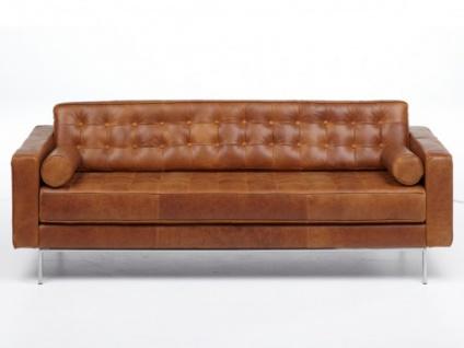 3-Sitzer Ledersofa Vittoria - Vintage Look