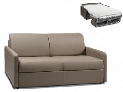 Schlafsofa 3-Sitzer CALIFE - Taupe - Liegefläche: 140 cm - Matratzenhöhe: 22cm