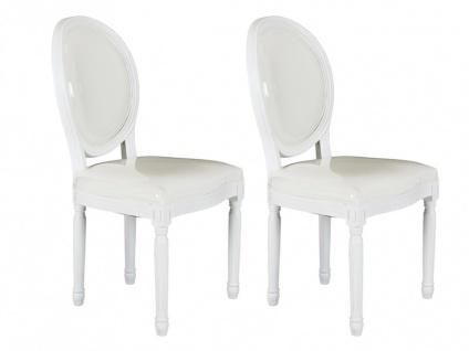 Stuhl 2er-Set Louis XVI - Weiß
