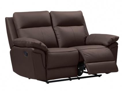 Relaxsofa 2-Sitzer PAKITA - Büffelleder - Braun