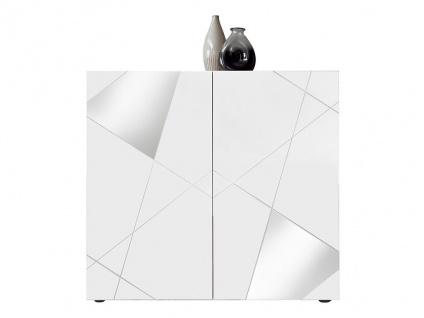 Highboard CANTIANO - 2 Türen - Weiß lackiert