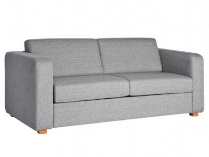 Schlafsofa 3-Sitzer-Sofa mit Express-Bettfunktion Stoff MINGOS - Grau