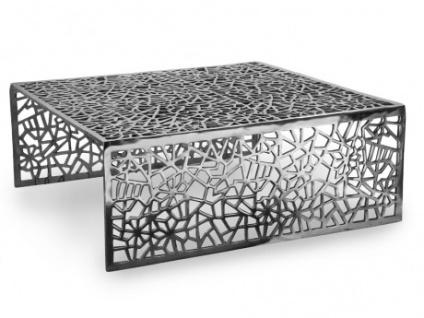 Couchtisch Design Inside Art Aluminium SPLENDEUR - Silber