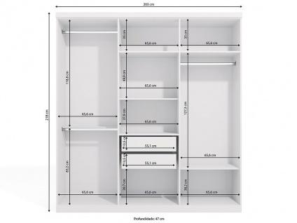 Kleiderschrank Wilhem - 6 Türen - Weiß - Vorschau 4