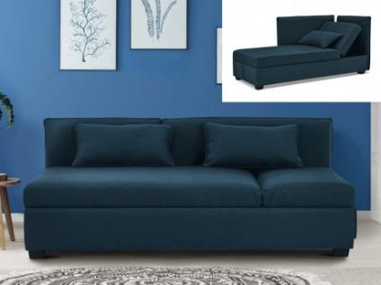 3-Sitzer-Sofa Stoff MOSINA - Blau