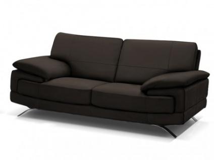 Ledersofa 2-Sitzer Emotion - Luxusleder - Braun