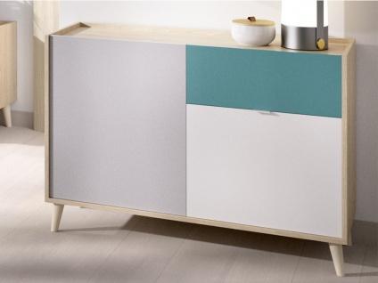 Sideboard BICA - 2 Türen & 1 Schublade - Mehrfarbig