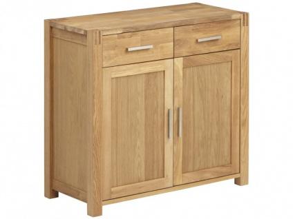 Sideboard Holz BROCELANDE II - Eiche geölt - 2 Türen & 2 Schubladen - Vorschau 5