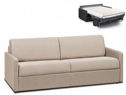 Schlafsofa 4-Sitzer Stoff CALIFE - Beige - Liegefläche: 160 cm - Matratzenhöhe: 18cm
