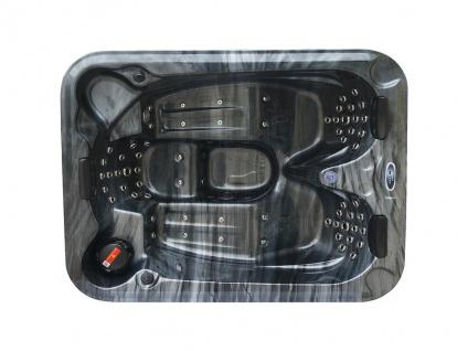 Whirlpool 3 Personen FIDJI V - B200 x T160 x H80 cm - BALBOA-System - Anthrazit