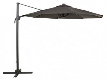 Sonnenschirm Stahl AIGNAN - Mit LED-Beleuchtung - Grau