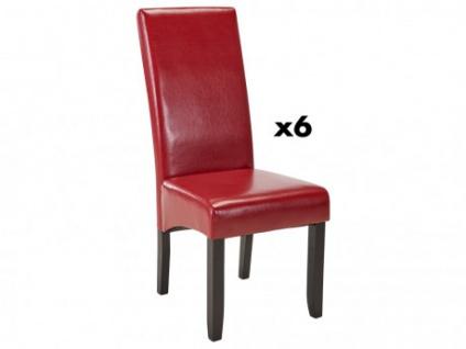 Stuhl 6er-Set ROVIGO - Rot