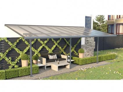 Terrassendach anlehnend ALVARO - Aluminium - 18, 8 m²