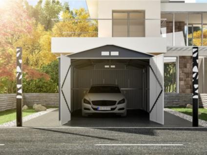 Garage NERON - Stahl - Grau - 18, 7 m²