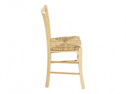 Stuhl 6er-Set Holz massiv PAYSANNE - Natur - Vorschau 3