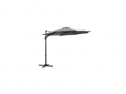 Sonnenschirm mit LED-Beleuchtung BONIFACIO - D3 x H2, 41 m - Grau
