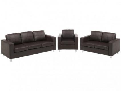 Couchgarnitur 3+2+1 Ackley - Braun