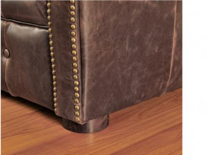 Chesterfield Ledersofa 3-Sitzer CLOTAIRE - Vintage Leder - Braun - Vorschau 5
