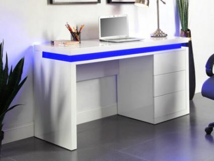 Schreibtisch Hochglanz LED EMERSON