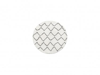 Teppich rund Berber-Stil MINEA - Polyester - D. 160 cm - Beige & Grau - Vorschau 2