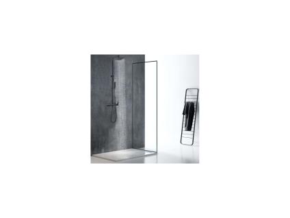 Duschsäule mattschwarzer Edelstahl PENEDA - 125 cm