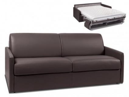 Schlafsofa 4-Sitzer CALIFE - Braun - Liegefläche: 160 cm - Matratzenhöhe: 14cm
