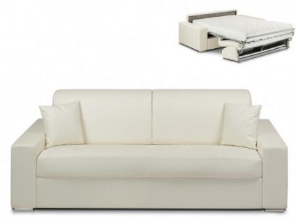 Schlafsofa 4-Sitzer EMIR - Weiß - Liegefläche: 160cm - Matratzenhöhe: 18cm