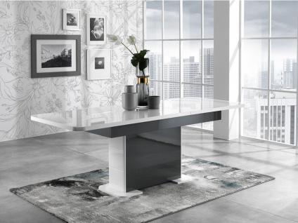 Esstisch PERCEPTION - Grau & Weiß