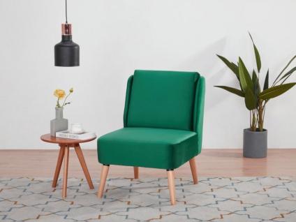 Sessel PETRIKOR - Samt - Smaragdgrün