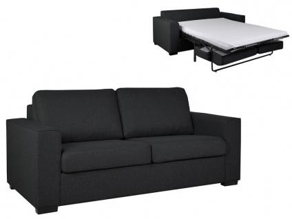 Schlafsofa mit Matratze 3-Sitzer ALFREDO - Stoff - Anthrazit