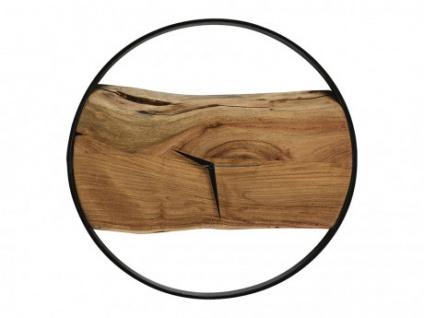 Wanduhr Industrie-Design Holz & Metall VIVENA - Durchmesser: 45cm