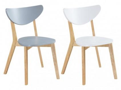 Stuhl Holz massiv 6er-Set CARINE - Grau
