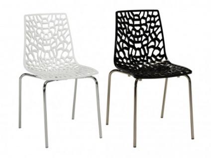Stuhl 4er-Set DIADEM - Kunststoff & Metall - Weiß