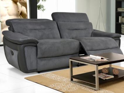 Relaxsofa Microfaser 3-Sitzer PARUA