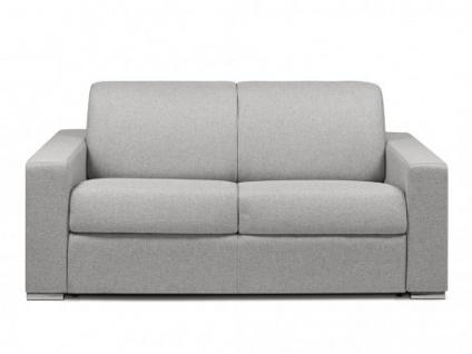 Schlafsofa 2-Sitzer Stoff CALITO - Grau - Liegefläche: 120 cm - Matratzenhöhe: 18cm