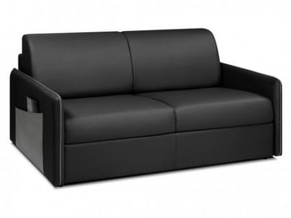 Schlafsofa Express Bettfunktion mit Matratze 3-Sitzer ALADDIN - Schwarz