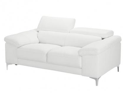 Ledersofa 2-Sitzer SOLANGE - Weiß