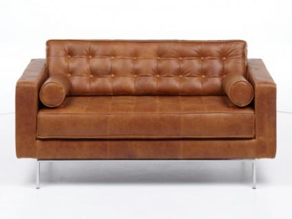 2-Sitzer Ledersofa Vittoria - Vintage Look
