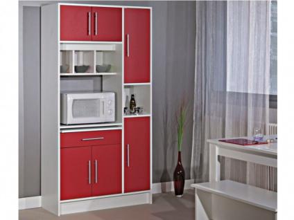 Küchenbuffet Buffetschrank MADY - Rot - Vorschau 2