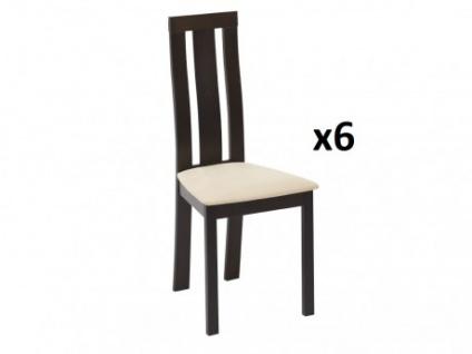 Stuhl 6er-Set Holz massiv Domingo - Wenge