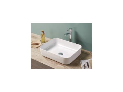 Waschbecken rechteckig JUNIKO - Weiß - Vorschau 1