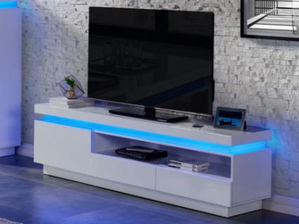 TV-Möbel Hochglanz LED Emerson