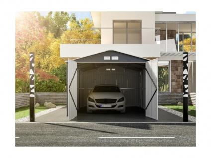 Garage NERON - Stahl - Grau - 18, 7 m² - Vorschau 1