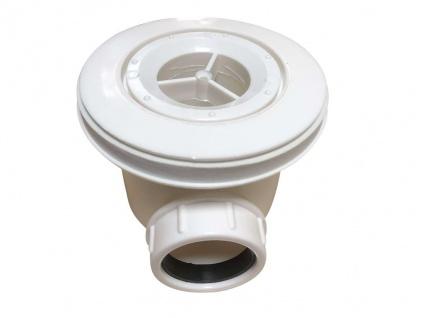 Duschwanne mit Siphon LYROS - 1400x900x40 mm - Weiß