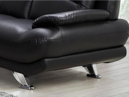 Sofa 3-Sitzer MUSKO - Schwarz - Vorschau 3