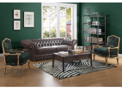 Chesterfield Ledersofa 3-Sitzer CLOTAIRE - Vintage Leder - Braun - Vorschau 3