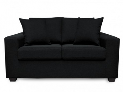 2 Sitzer Sofa Stoff Yudo Schwarz Kaufen Bei Kauf