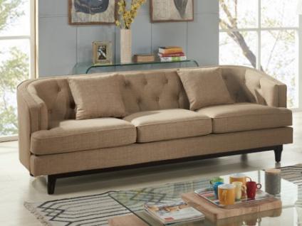 3-Sitzer-Sofa Stoff Elton - Beige