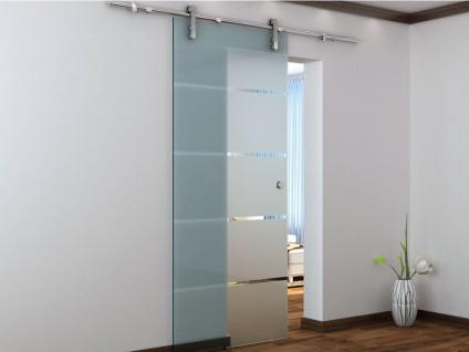 Glasschiebetür Stahl Glassy - 205x83 cm - Vorschau 2
